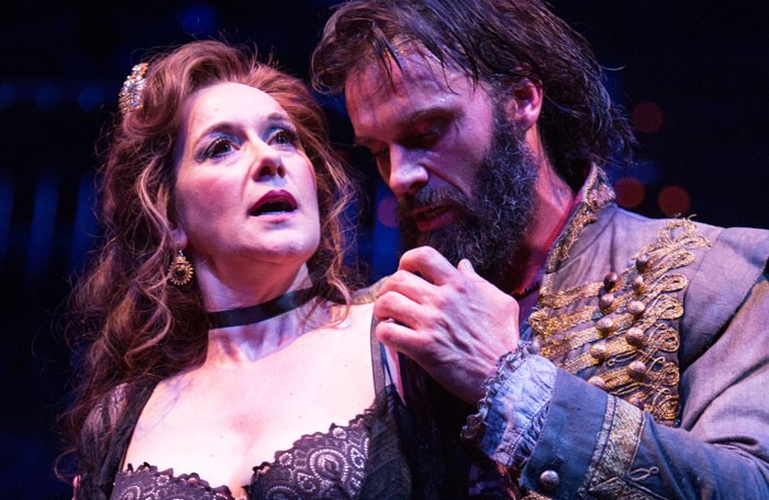 Alexandra Gilbreath and Joseph Millson in the rover at the Swan Theatre, Stratford-upon-Avon. Photo: Ellie Kurttz