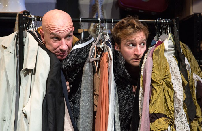 Simon Day and James Marlowe in Waiting for Waiting for Godot at St James Theatre, London. Photo: Andy Tyler