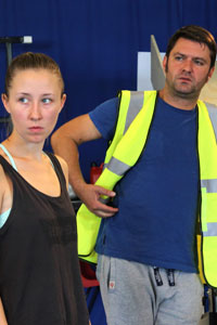 Aleksandar Mikic and Erin Doherty in Wish List rehearsals. Photo: Anneka Morley
