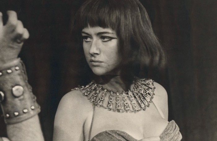 Helen Mirren in Antony and Cleopatra in 1965 at the Old Vic, London