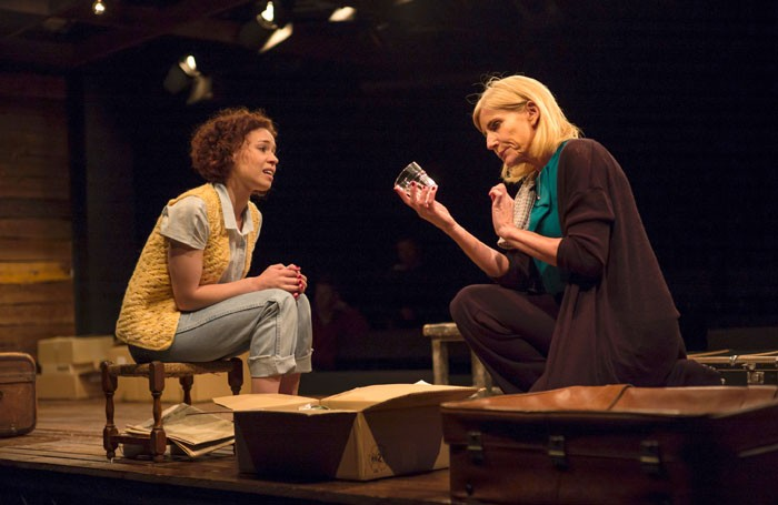Mirrim Tyers-Vowles and Michelle Collins in Kindertransport at Chickenshed, London. Photo: Daniel Beacock