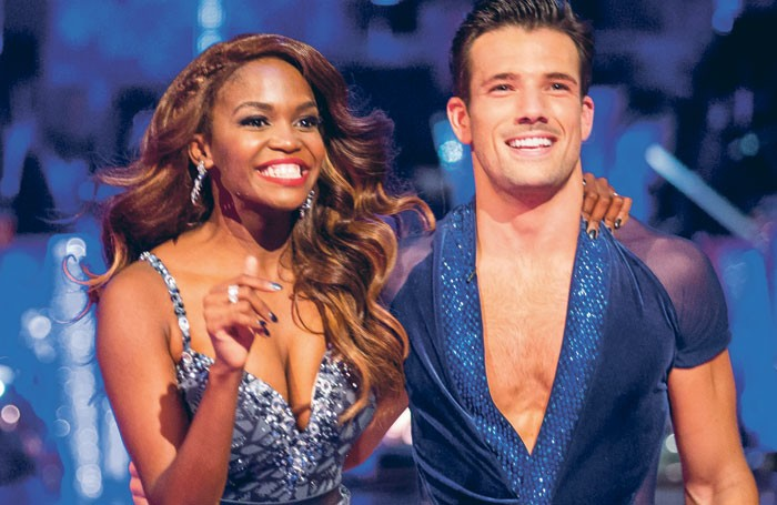 Oti Mabuse with her Strictly Come Dancing partner Danny Mac . Photo: BBC/Guy Levy
