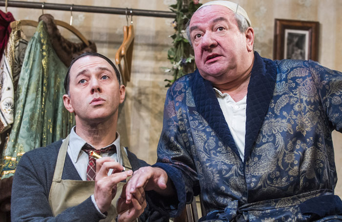 Stott with Reece Shearsmith in The Dresser. Photo: Tristram Kenton