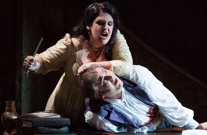 Keri Alkema and Craig Colclough in Tosca at the London Coliseum. Photo: Richard Hubert Smith