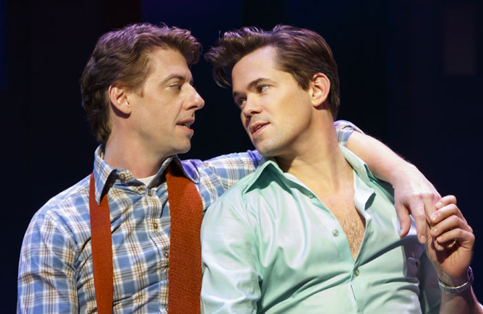 Christian Borle and Andrew Rannells in Falsettos at the Walter Kerr Theatre. Photo: Joan Marcus