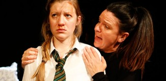 Hayley Wareham and Cathy Owen in Cathy at the Pleasance, London. Photo: Pamela Raith