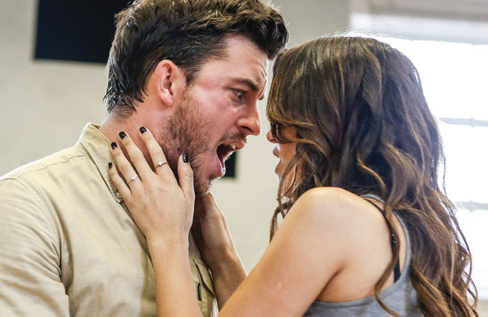 Jonathan Bailey and Samantha Barks in rehearsals for The last Five Years. Photo: Pamela Raith