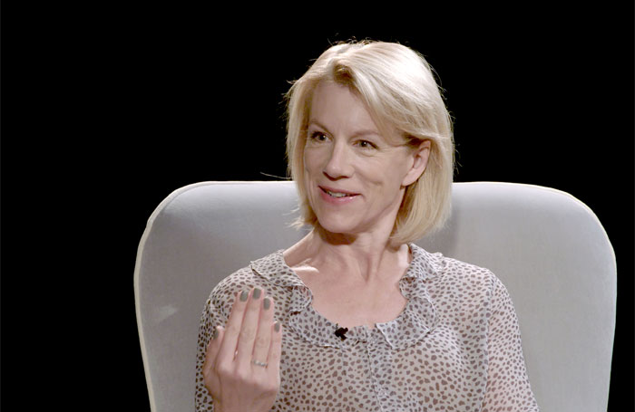 Juliet Stevenson being interviewed for Theatre Lives