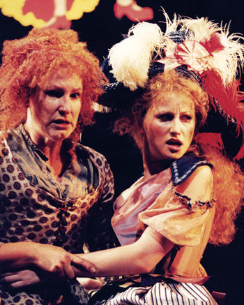 Deborah Findlay and Danielle Tilley in the National Theatre production of Mother Clap's Molly House in 2001. Photo: Mark Douet