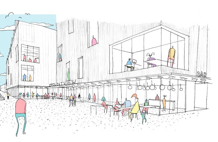 Artist's impression of Mountview Academy of Theatre Arts's new home in Peckham