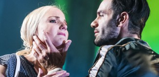 Kerry Ellis and Ramin Karimloo in Murder Ballad at the Arts Theatre. Photo: Tristram Kenton