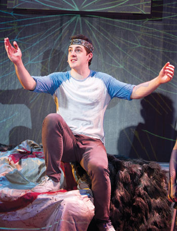 Harry Hepple in Pippin at Menier Chocolate Factory in 2011. Photo: Tristram Kenton