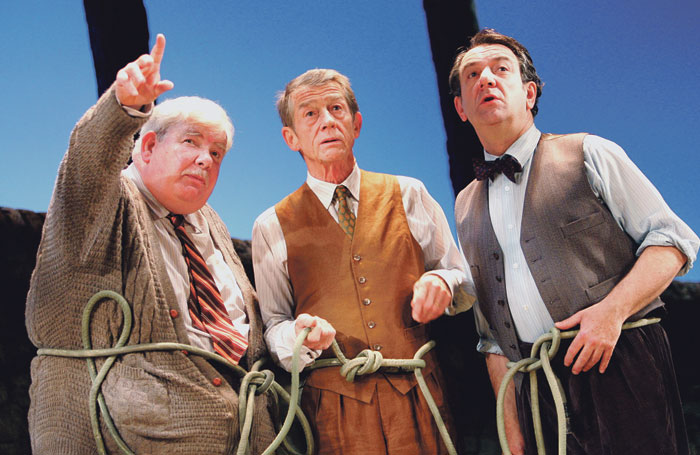 Richard Griffiths, John Hurt and Stott in Heroes at Wyndham's Theatre, London, in 2005. Photo: Tristram Kenton