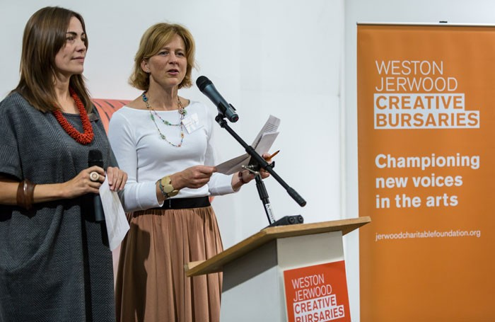 Shonagh Manson, director of the Jerwood Charitable Foundation, and Kate Danielson, director of Weston Jerwood Creative Bursaries. Photo: Hydar Dewachi