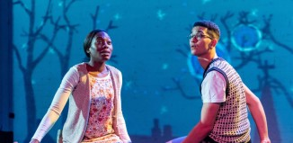 Stephanie Levi-John and Lawrence Walker in The Owl Who Was Afraid of the Dark at the Unicorn Theatre. Photo: Manuel Harlan