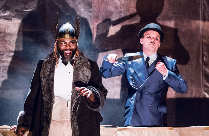 George Ikediashi and Rory Kinnear in The Threepenny Opera. Photo: Tristram Kenton