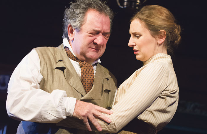 Stott and Laura Carmichael in Uncle Vanya at the Vaudeville Theatre, London, in 2012. Photo: Tristram Kenton