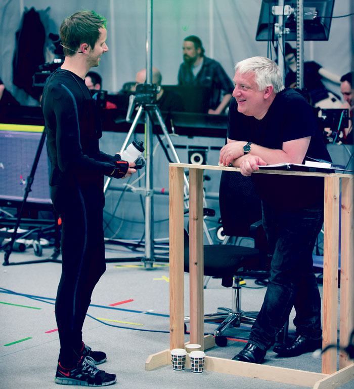 Mark Quartley and Simon Russell Beale in rehearsals. Photo: Topher McGrillis
