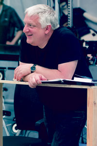 Simon Russell Beale in rehearsals for The Tempest. Photo: Topher McGrillis