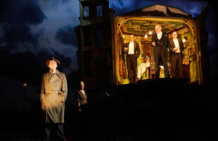Liam Brennan and the cast of An Inspector Calls at the Playhouse Theatre, London. Photo: Mark Douet