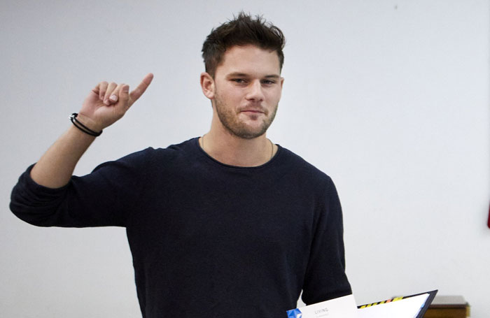 Jeremy Irvine in rehearsal for Buried Child. Photo: Serge Nivelle