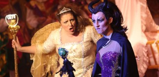Claire Sundin and Julie Stark in Sleeping Beauty at Theatre Royal Wakefield. Photo: Amy Charles Media