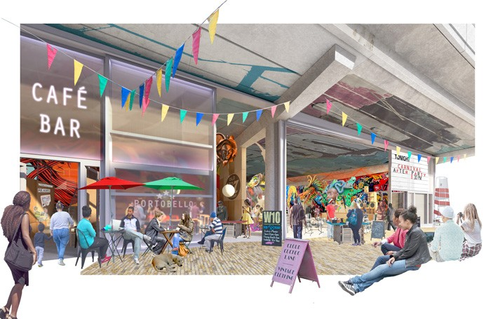Initial designs for the arts hub on Acklam Road