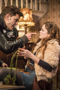 Jeremy Irvine & Charlotte Hope in Buried Child. Photo: Johan Persson