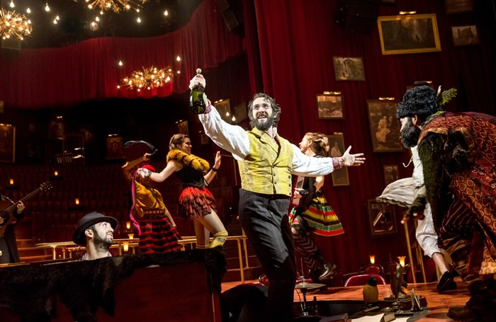 Josh Groban and the cast of Natasha, Pierre, and the Great Comet of 1812. Photo: Chad Batka