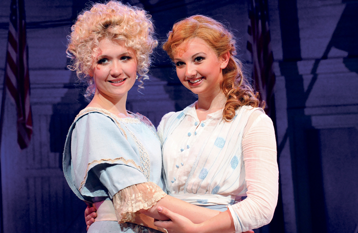 Strallen with sister Zizi in The Music Man at Chichester Festival Theatre in 2008. Photo: Tristram Kenton