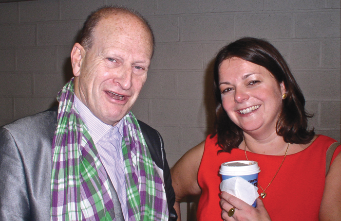 Critic and playwright Nicholas de Jongh with fellow reviewer  Fiona Mountford. Photo: John Thaxter