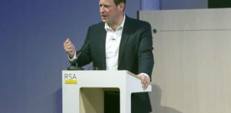 Ed Vaizey giving his speech at the Royal Society of Arts