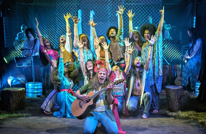 The cast of Hair at the Hope Mill Theatre, Manchester. Photos: Anthony Robling