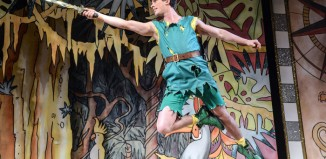 Rory Maguire in Peter Pan: A New Adventure at Greenwich Theatre, London. Photo: Robert Day