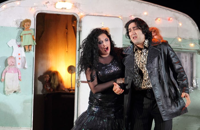 Anita Rachvelishvili and Najmiddin Mavlyanov in Il Trovatore at the Royal Opera House. Photo: Catherine Ashmore