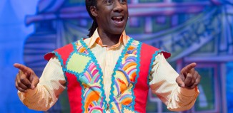 Sid Sloane in Aladdin at the Lyceum in Crewe. Photo: Phil Greig