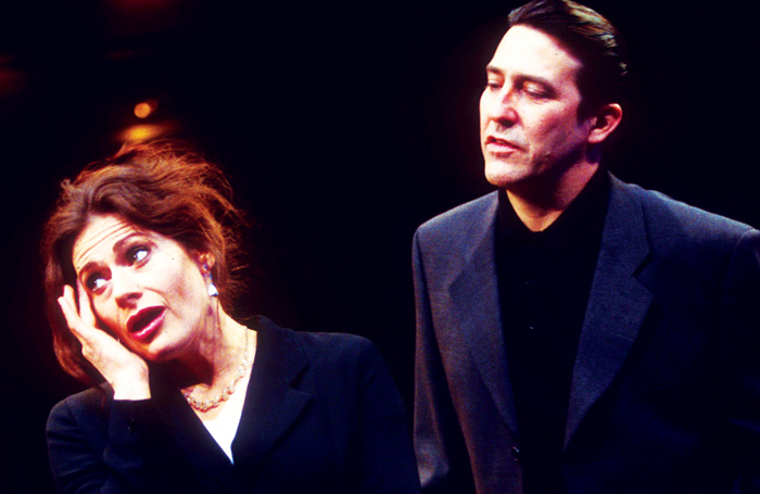 Sally Dexter and Ciaran Hinds in Closer at the Cottesloe in 1997 . Photo: Tristram Kenton