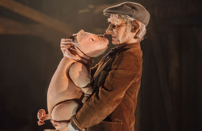 Scene from Babe, the Sheep-Pig at Polka Theatre, London. Photo: David Monteith-Hodge/Photograp