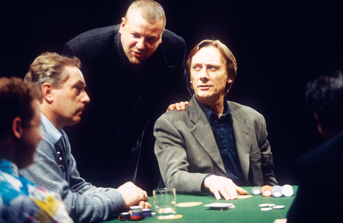 Nicholas Day, Ray Winstone and Tom Georgeson in Dealer's Choice at the Cottesloe, National Theatre, in 1995. Photo: Tristram Kenton