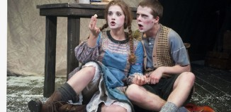 Karen Fishwick and Shaun Miller in Hansel and Gretel at Citizens Theatre. Photo: Tim Morozzo