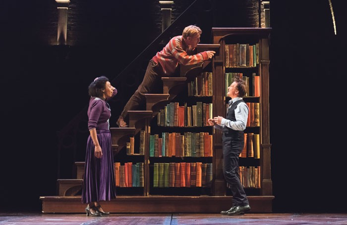 Noma Dumezweni, Paul Thornley and Jamie Parker in Harry Potter and the Cursed Child. Photo: Manuel Harlan