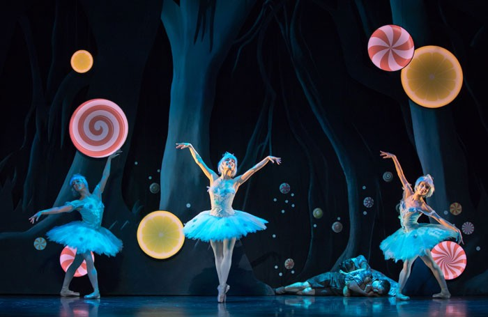 Scottish Ballet dancers as Dewdrop fairies in Hansel and Gretel by Christopher Hampson. Photo: Andy Ross