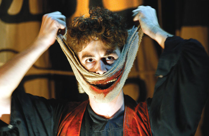Louis Maskell in The Grinning Man. Photo: Simon Annand