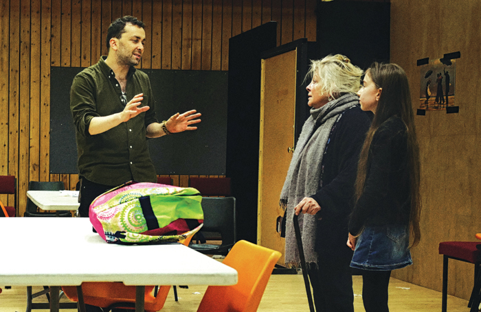 Zeldin with Anna Calder-Marshall and  Darcey Brown in rehearsals for Love. Photo: Sarah Lee