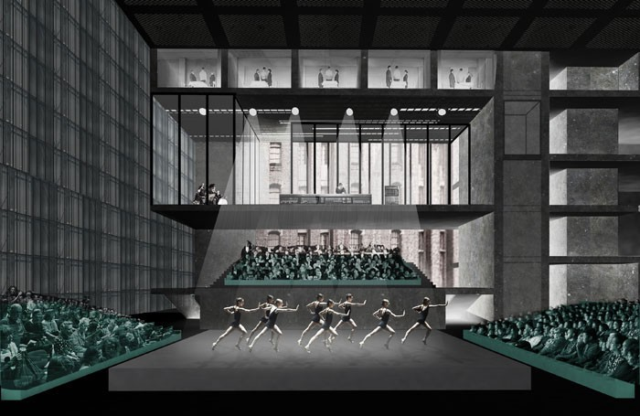An architect's impression of the Factory theatre in Manchester. Photo: OMA