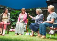 Linda Bassett, Deborah Findlay, Kika Markham and June Watson in Escaped Alone. Photo: Tristram Kenton