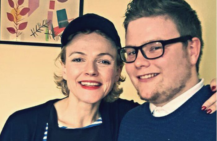 Actor Awareness founder Tom Stocks (right) with Maxine Peake