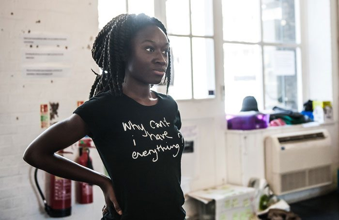 Heather Agyepong rehearsing for a production by Talawa Young People's Theatre. Photo: Lidia Crisafulli