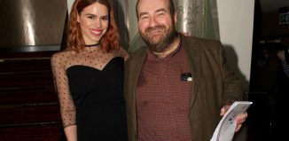 Actor Billie Piper and critic Mark Shenton at the Critics' Circle Theatre Awards. Photo: Peter Jones