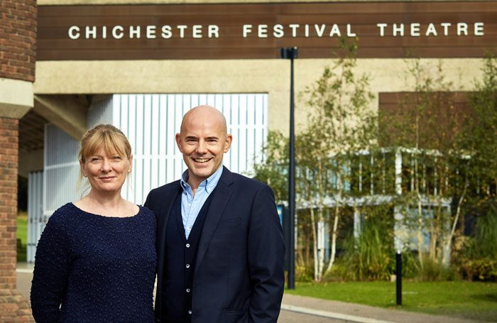 Chichester Festival Theatre executive director Rachel Tackley and artistic director Daniel Evans. Photo: Tobias Key
